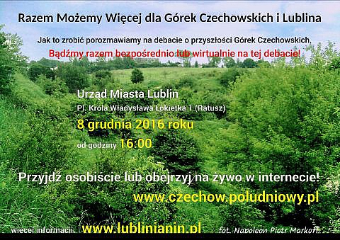 fot. Otwarta debata w Lublinie o przyszłości Górek Czechowskich