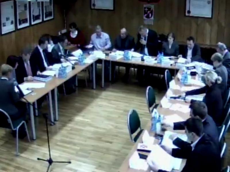 fot. LII sesja Rady Miejskiej w Halinowie - online